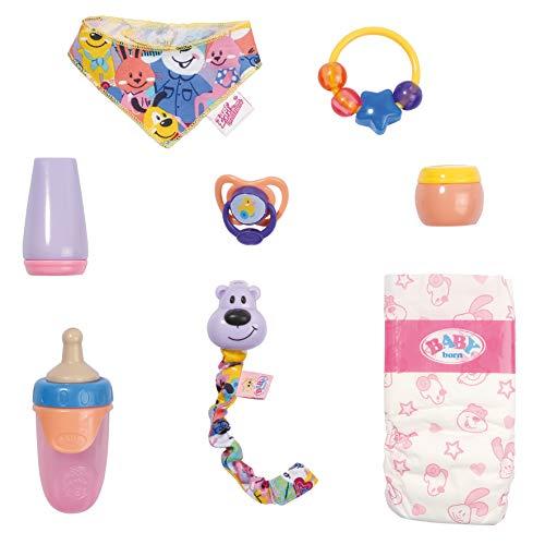 Zapf Creation 828052 BABY born Baby Care Accessoires-Set Füttern & Wickeln, Puppenzubehör 43 cm