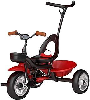 دراجة ثلاثية العجلات للأطفال من سن 1-6 سنوات من عمر 1-6 سنوات، دراجة توازن للأطفال مع مقبض دفع قابل للفصل، 3 عجلات دراجة ث...