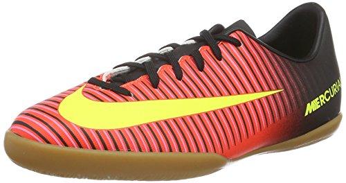 Nike Jr Mercurialx Vapor XI IC, Botas de fútbol Unisex niños, Naranja (Total Crimson/Vlt-Blk-Pnk Blst), 36 EU