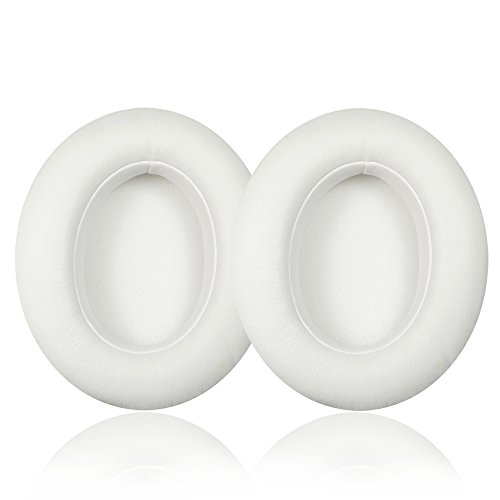 Synsen Replacement Earpad Cushions Compatible for Beats Studio 2.0 Wired/Wireless B0500/B0501,Sutdio 3.0 Over-Ear Headphones (Not for Solo or Studio 1st Gen Headphones) With ITIS Cable Clip (WHITE)