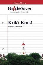 GradeSaver (TM) ClassicNotes: Krik? Krak!