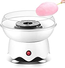 Portable Cotton Candy Machine for Kids Efficient Heating Mini Cotton Candy Making Machine with Large Food Grade Splash-Proof Plate (white)