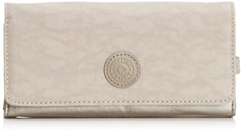 Kipling BROWNIE K13865C47 Damen Geldbörse 19x10x3 cm (B x H x T), Mehrfarbig (Dune Pewter C)