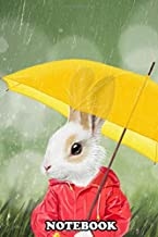 Notebook: Raining Little Bunny , Journal for Writing, College Ruled Size 6