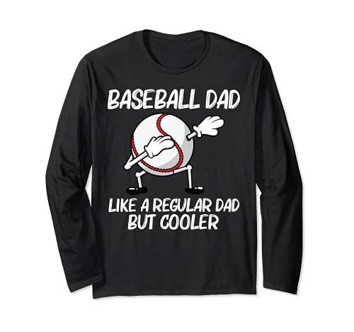 Cool Baseball For Dad Papa Pitcher Bat Ball Softball Sports Long Sleeve T-Shirt