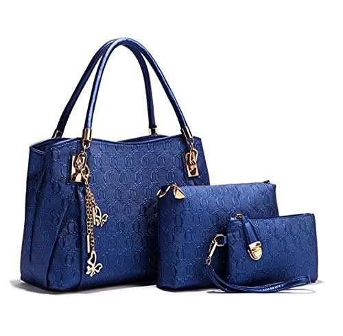 DFBSF Conjunto de 4 piezas de bolso de mensajero de moda para mujer/Bolso de mujer de cuatro piezas/Bolsos,neceseres,aptos para todo tipo de lugares,exquisitos obsequios