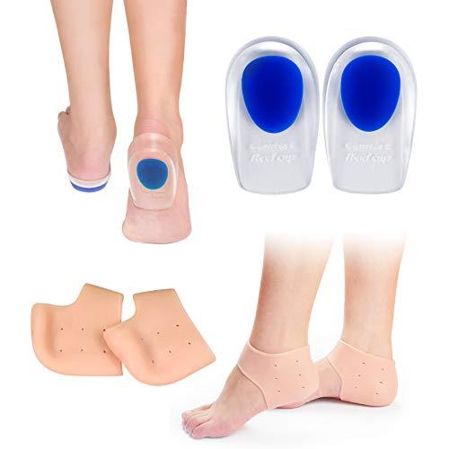Heasoy Gel Heel Cups, Silicone Heel Cushion Pads Support Cushioning & Pain,...