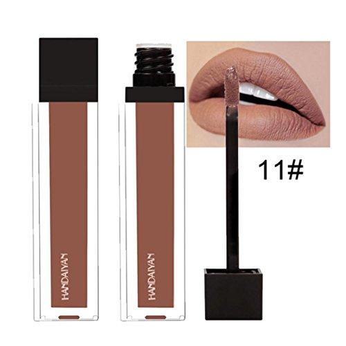 12 Colores Profesional Labial Mate Pintalabios Permanente de Maquillaje Larga Duracion para Niñas por ESAILQ