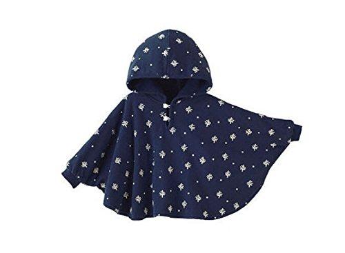 ZUMUii Butterme Netter Baby Winter warme Beiderseitige Wear Kapuze Cape Umhang Poncho Mantel für Kinder Kleinkind Baby Mädchen Jungen 1-3 Jahre