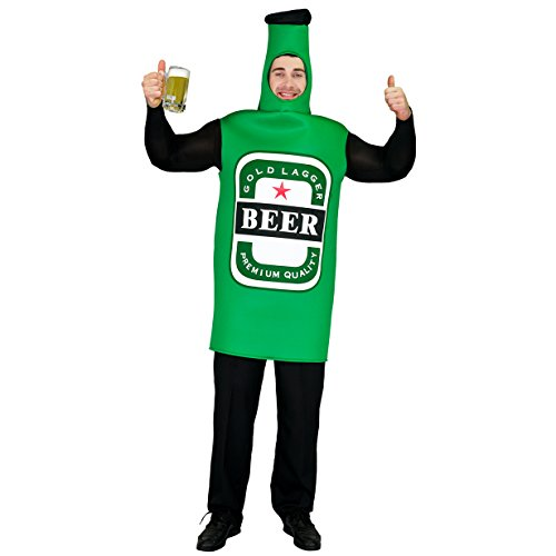 SEA HARE Disfraz de Botella de Cerveza Oktoberfest Unisex