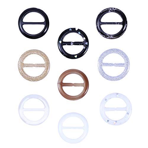 Fenical Schal Ring Runde Harz Schals Schnalle Seide Verschluss Clips Kleidung Ring 3cm 9 Stück