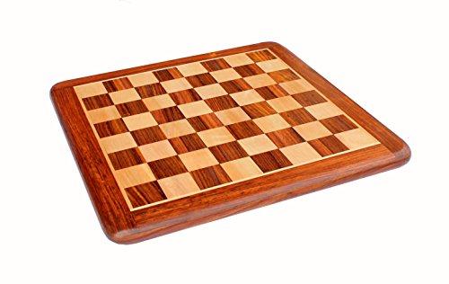 StonKraft Tablero de Juego de ajedrez de Madera Coleccionable de 21 'x 21' sin Piezas para Jugadores de ajedrez Profesionales