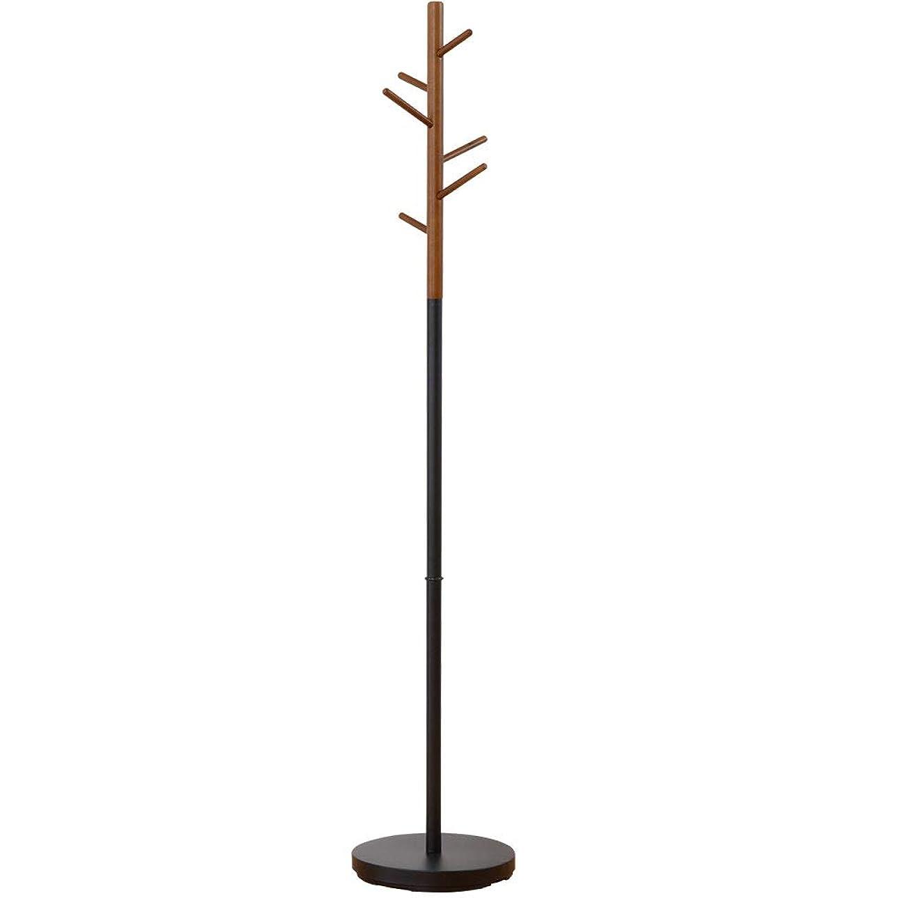 火曜日プットプラグワイエムワールド 天然木×スチールフレーム ポールスタンド アリオス ブラック 34-118