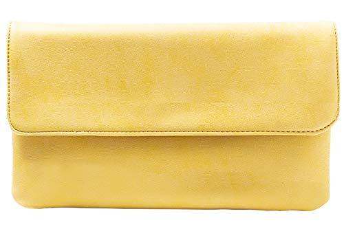 cecilia&bens Damen Clutch in verschiedenen Farben | kleine Handtasche | Abendtasche, Farbe:gelb