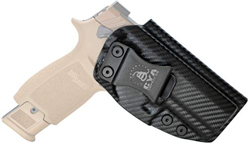 CYA Supply Co. Base Inside Waistband Holster Fits Sig Sauer M18 & P320 Compact/Carry Concealed Carry IWB Veteran Owned Company Fits (Carbon Fiber)