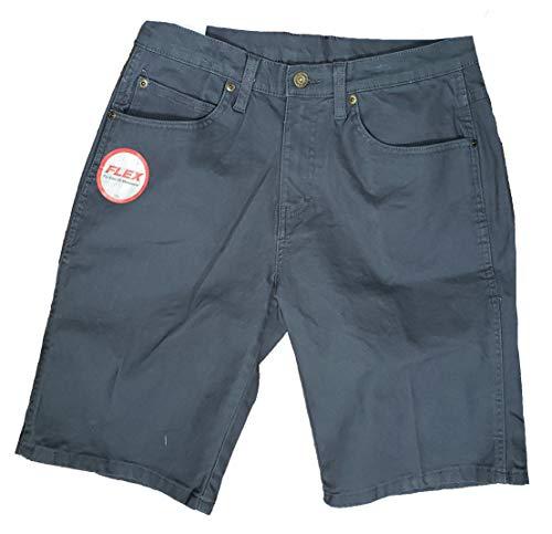 Blue Regular Fit Flex Duck Utility Shorts - 44