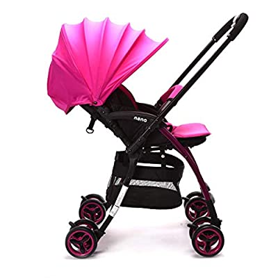 Wonder buggy Lightweight Baby Stroller with Reversible Handle, Easy Foldable and Collapsible (Pink)