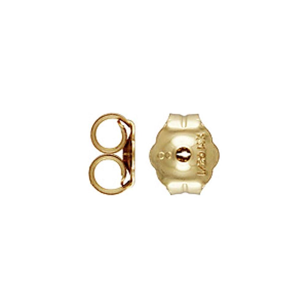 JensFindings 30 Qty. 14k Gold Filled Earring Backs (4.7x5.4mm)