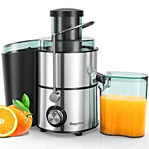Juicer, Bagotte Centrifugal Juicer Compact Fruits and Vegetables Juice Extractor, Dual Speed Wide Mouth Juicer Machines… |
