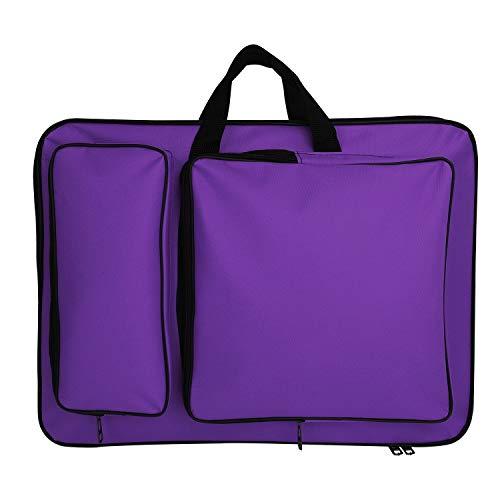 8K Resistente all'Acqua Art Portfolio Carry Case Zaino Student Outdoor Artist Borsa Borsa per Art Storage Drawing Board Cavalletto Sketch Carta Pennelli Matite 50,8 x 36,8 cm Viola