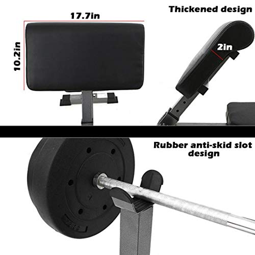 Seated Arm Curl Bench Preacher for Dumbbell or EZ Bar Bicep Curls-Platinum