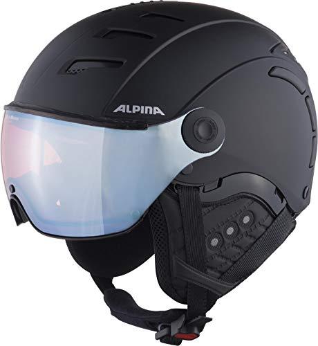 ALPINA JUMP 2.0 QVM Skihelm, Unisex– Erwachsene, black matt silver, 59-61