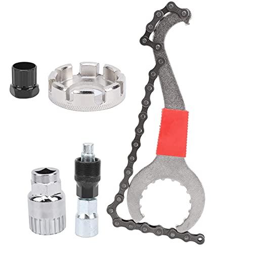 Un Uso con enchufes de 24 mm Llaves Ajustables Llave de Cadena de reparación Herramienta de extracción de Bicicletas, para Resolver la mayoría de los Problemas de Bicicletas