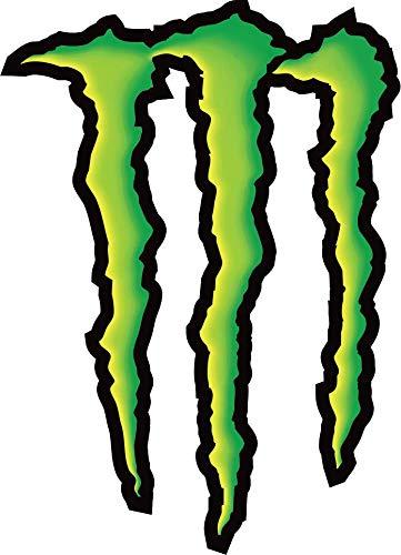 Retro Aufkleber für Motorradhelm Monster Energy