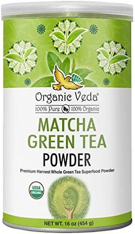 Organic Veda Matcha Green Tea Powder Culinary Grade USDA Certified Organic Antioxidant Dense product image