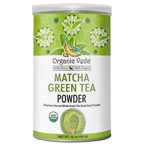 Organic Veda Matcha Green Tea Powder, Culinary Grade, USDA Certified Organic | Antioxidant Dense, 100% Pure Whole Fresh Green Tea Leaves | Face Mask, Beauty, Cooking, Baking & Latte