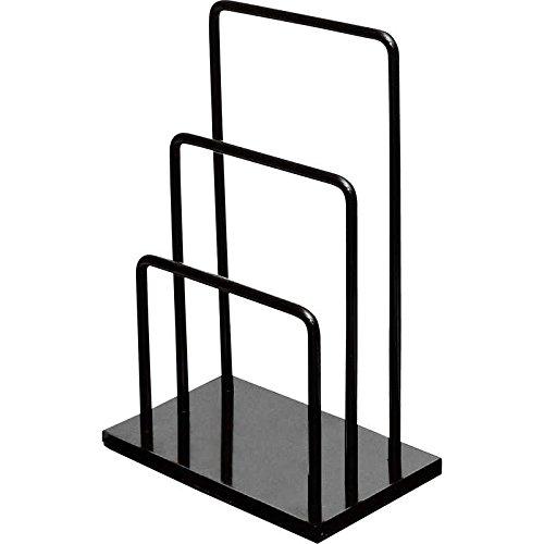 ブラックスチール製メニューブックスタンド2段式【SE-19】