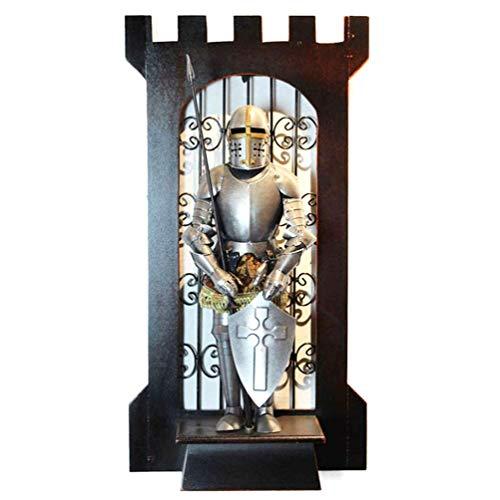Arte de Pared de Estatua de Armadura de Caballero de la Antigua Roma, Figuras de Caballero Medieval Completamente Armadas, Hierro de Metal, Armadura de Guerrero Valiente, Traje de Estatua co
