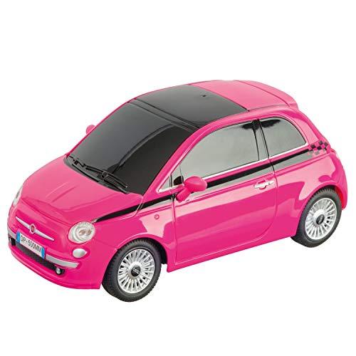 Mondo Motors – Fiat 500 Pink Edition – Modelo a Escala 1:24 – hasta 20 km/h de Velocidad – Coche de Juguete para niños – 63554
