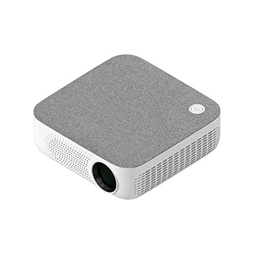 ABCD Proyector portátil de teléfono móvil para el hogar, HD 1080p Inalámbrico 4k Proyector de enseñanza de Oficina Inteligente, Ai Smart Voice, Sonido estéreo, Luz Ambiental Adaptable