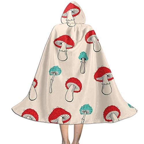 Hangdachang Capa para nios Capa con Capucha Mushroom Garden Dancing Capa Unisex Capa para Halloween Fiesta de Navidad Disfraces de Cosplay L