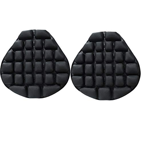 IPOTCH 2x Universal Inflatable Air Motorcycle Seat Cushion Pad For Comfortable Travel