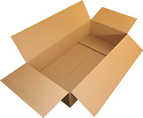 2 St. Faltkartons 1200x600x250 1.40 C-Welle 1 wellig Kraftliner Versandschachtel 120x60x25 Kiste Versandbox