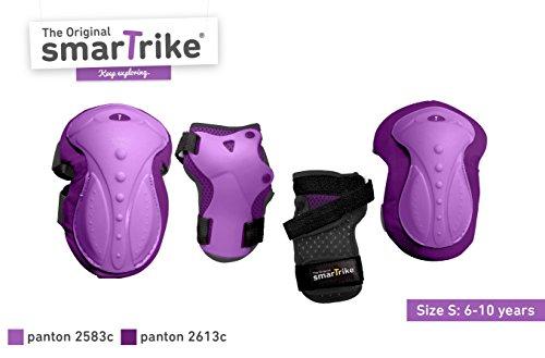 smarTrike Kinder Protection Set Ellbogen, Knie-und Handgelenkschutz-S, Lila, S
