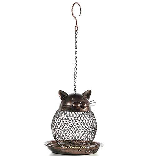 YFQX, Alimentadores de Aves Silvestres, Pájaro de Metal para al Aire Libre - Antiguo Acabado - Alimentador de Semillas de casa para jardín Yarda Exterior Decoración