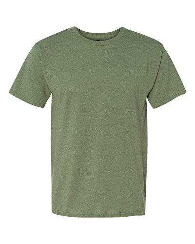 Hanes ComfortBlend EcoSmart Crewneck Men T-Shirt,Heather Green,XX-Large