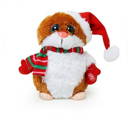 christmasshop Pupazzo - Criceto di Natale che Canta e Balla (Taglia unica) (Marrone)