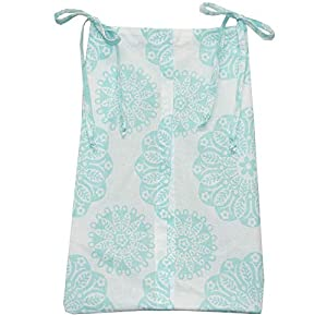 Cotton Tale Designs Diaper Stacker, Sweet & Simple Aqua Blue