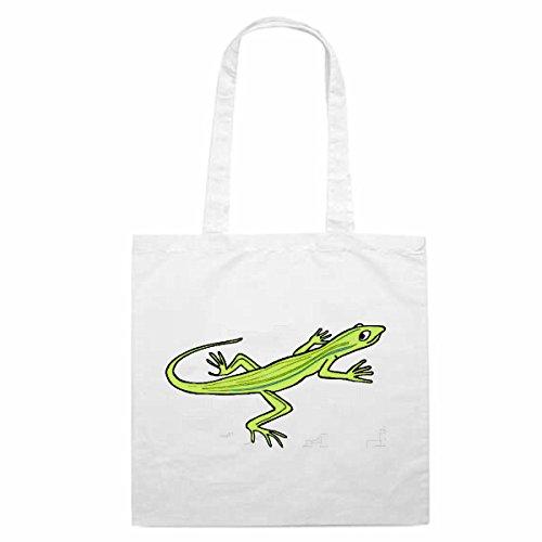 Tasche Umhängetasche Motiv Nr. 10581 Gecko Echse Cartoon Spass Spaß Kult Film Serie DvdCartoon Spass Fun Kult Film Serie
