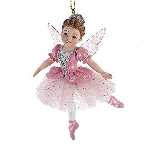 Kurt Adler E0420 Nutcraker Suite Children's Sugar Plum Fairy Hanging Ornament, Multi-Color