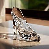 Zent Cenicienta Zapato de Cristal Cristal Regalo de cumpleaños Decoración del hogar Cenicienta Zapatos de tacón Alto Zapatos de Boda Figuras Miniaturas Adorno
