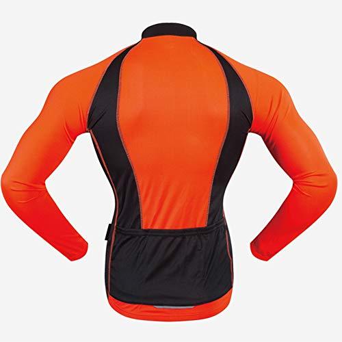 LRZ Ropa de Ciclismo para Hombre Maillot Jersey con Cremallera Completa Camisa...