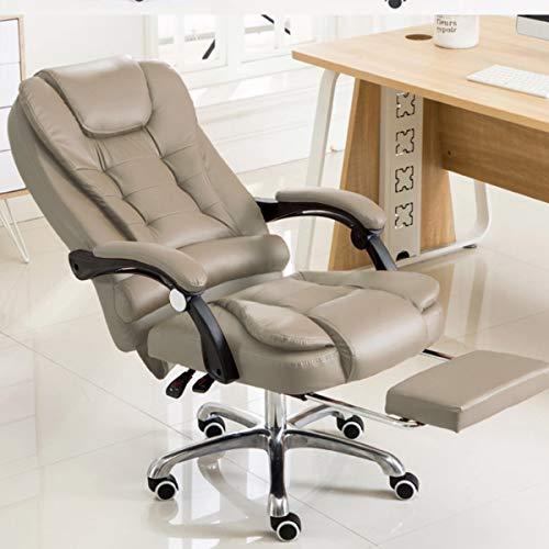 Cadeira para Escritório Giratória com apoio para os pés - Taupe/Marrom Claro - LMS-BY-8436-T3
