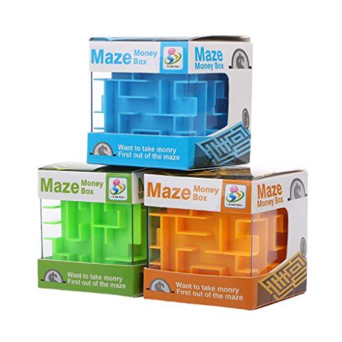 Exing Spardose 3D Money Maze Spardose Würfel Puzzle Sammelbox Münzen Geschenk für Kinder (zufällige Lieferung)