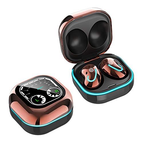 XJPB Auriculares Bluetooth Auriculares Bluetooth Auriculares Bluetooth, LED Pantalla Estéreo Auriculares Deporte Impermeable Cancelación Auriculares Auriculares Auriculares Control Táctil,Oro