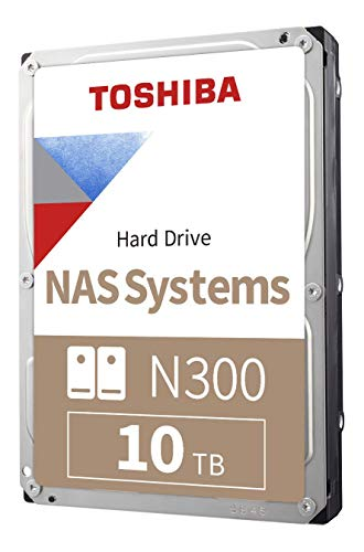 Toshiba N300 10TB NAS 3.5-Inch Internal Hard Drive - CMR SATA 6 Gb/s 7200 RPM 256 MB Cache -...